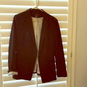 Black Blazer with striped lining.H&M. Size 12.